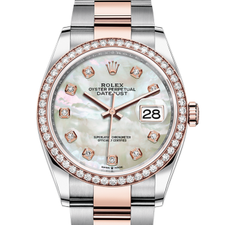 replica Rolex Datejust Oyster 36 mm Oystersteel and Everose gold m126281rbr-0010