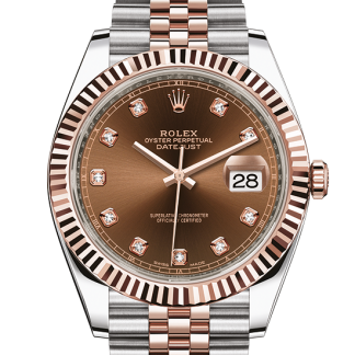 best Rolex Datejust Oyster 41 mm Oystersteel and Everose gold m126331-0004