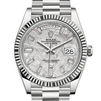 best Rolex Day-Date Oyster 40 mm white gold m228239-0055