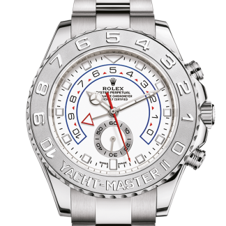 best Rolex Yacht-Master Oyster 44 mm white gold and platinum m116689-0002