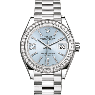 cheap Rolex Datejust Oyster 28 mm platinum and diamonds m279136rbr-0001
