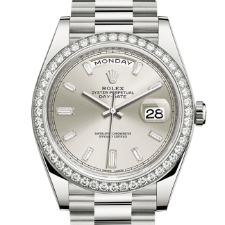 cheap Rolex Day-Date Oyster 40 mm white gold and diamonds m228349rbr-0001