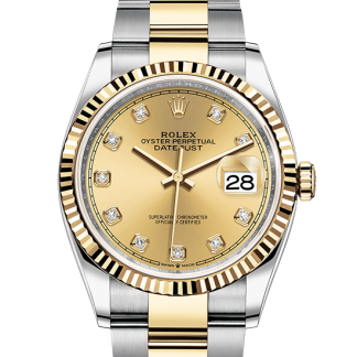 copy Rolex Datejust Oyster 36 mm Oystersteel and yellow gold m126233-0018
