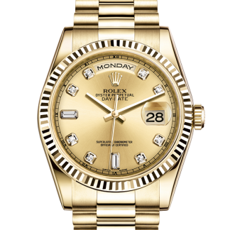 copy Rolex Day-Date Oyster 36 mm yellow gold m118238-0116