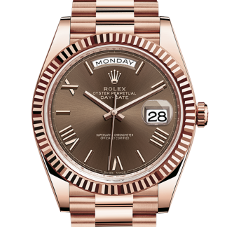 copy Rolex Day-Date Oyster 40 mm Everose gold m228235-0002
