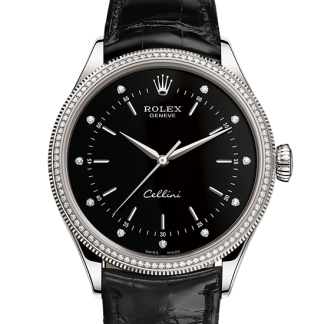 discount Rolex Cellini 39 mm 18 ct white gold m50609rbr-0007