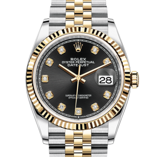 perfect Rolex Datejust Oyster 36 mm Oystersteel and yellow gold m126233-0021