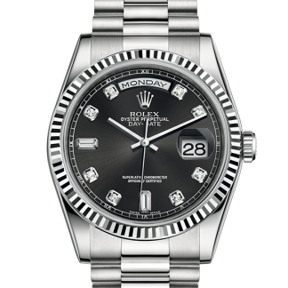 discount Rolex Day-Date Oyster 36 mm white gold m118239-0089