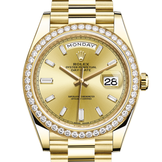 discount Rolex Day-Date Oyster 40 mm yellow gold and diamonds m228348rbr-0002
