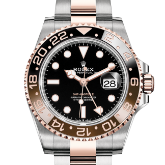 fake Rolex GMT-Master II Oyster 40 mm Oystersteel and Everose gold m126711chnr-0002