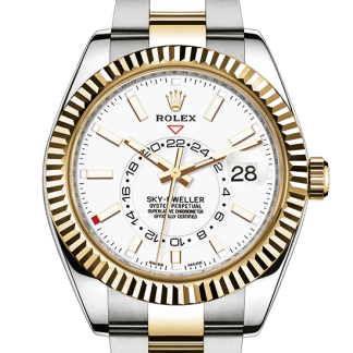 fake Rolex Sky-Dweller Oyster 42 mm Oystersteel and yellow gold m326933-0009