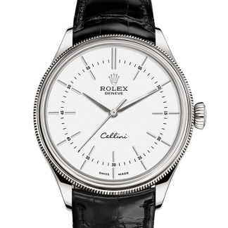perfect Rolex Cellini 39 mm 18 ct white gold m50509-0016