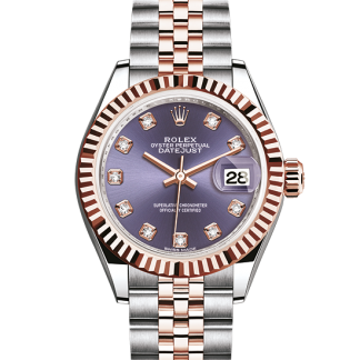 perfect Rolex Datejust Oyster 28 mm Oystersteel and Everose gold m279171-0015
