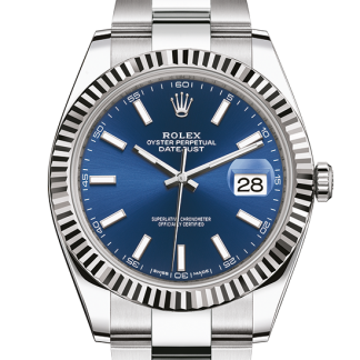 perfect Rolex Datejust Oyster 41 mm Oystersteel and white gold m126334-0001