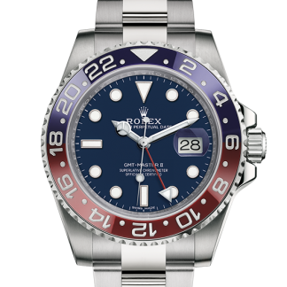 perfect Rolex GMT-Master II Oyster 40 mm white gold m116719blro-0002