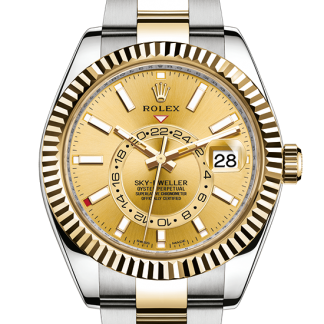 perfect Rolex Sky-Dweller Oyster 42 mm Oystersteel and yellow gold m326933-0001