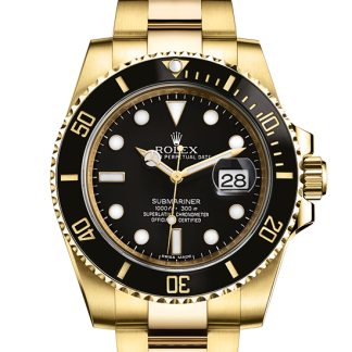 perfect Rolex Submariner Oyster 40 mm yellow gold m116618ln-0001