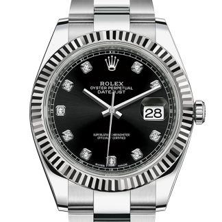 replica Rolex Datejust Oyster 41 mm Oystersteel and white gold m126334-0011