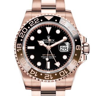replica Rolex GMT-Master II Oyster 40 mm Everose gold m126715chnr-0001