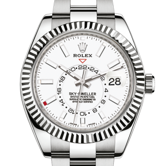 replica Rolex Sky-Dweller Oyster 42 mm Oystersteel and white gold m326934-0001
