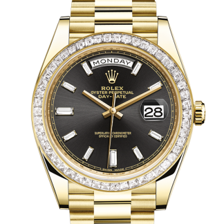 top Rolex Day-Date Oyster 40 mm yellow gold and diamonds m228398tbr-0001