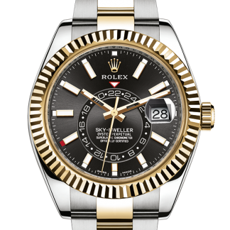 top Rolex Sky-Dweller Oyster 42 mm Oystersteel and yellow gold m326933-0002