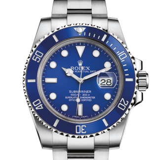 top Rolex Submariner Oyster 40 mm white gold m116619lb-0001